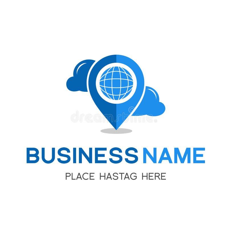 Ubicación con el logotipo del tiempo Logotipo de alta calidad stock de ilustración