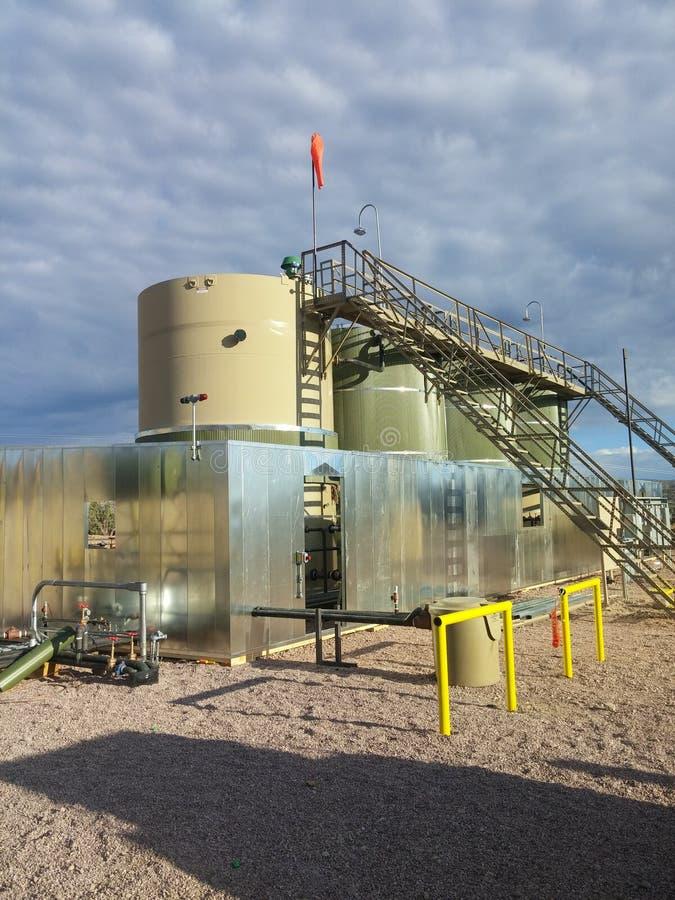 Ubicación del campo petrolífero fotos de archivo libres de regalías