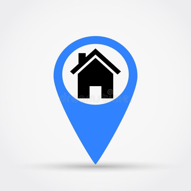 Ubicación del ejemplo del vector de la casa libre illustration