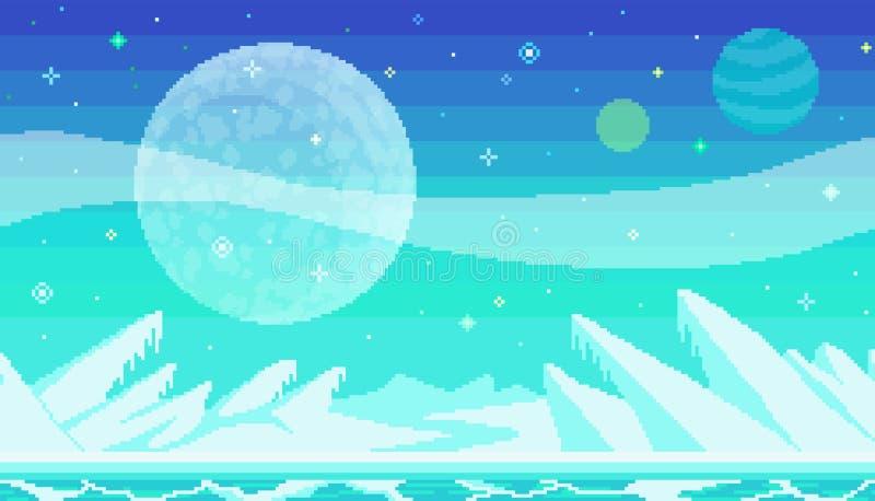 Ubicación del juego del arte del pixel libre illustration