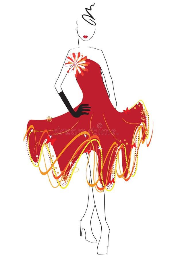 ubiera czerwień obrazy stock