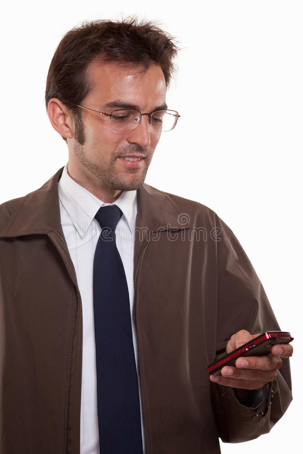 ubioru atrakcyjni biznesowi mężczyzna potomstwa obrazy stock