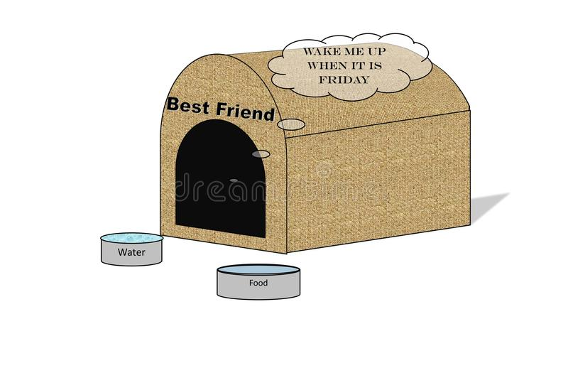 Ubique-Illustration einer Hundehütte vektor abbildung