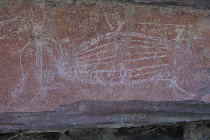 Ubirr-Felsen-Kunststandort im Nationalpark-Nordterritorium Kakadu von Australien stockbild