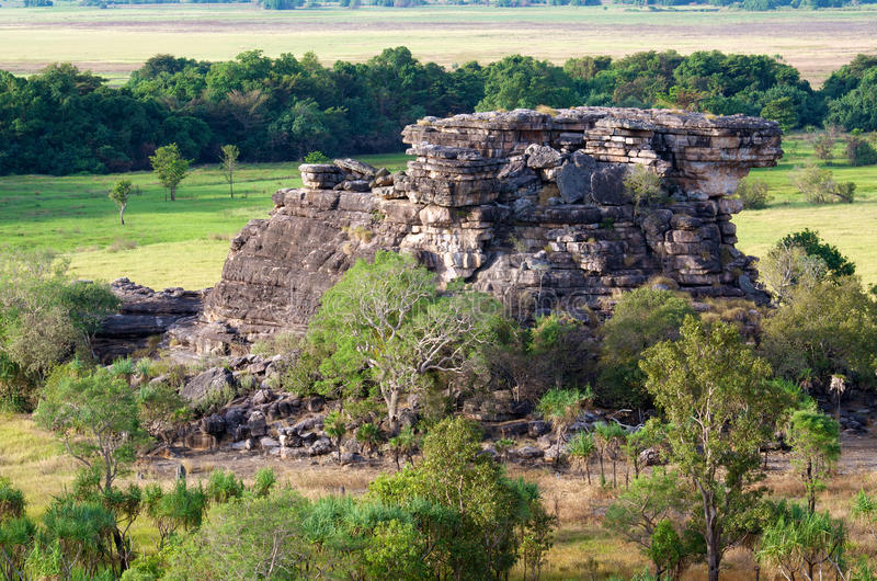 Ubirr, Kakadu National Park. Rock formation at Ubirr, in the East Alligator region of Kakadu National Park in the Northern Territory of Australia, famous royalty free stock photo