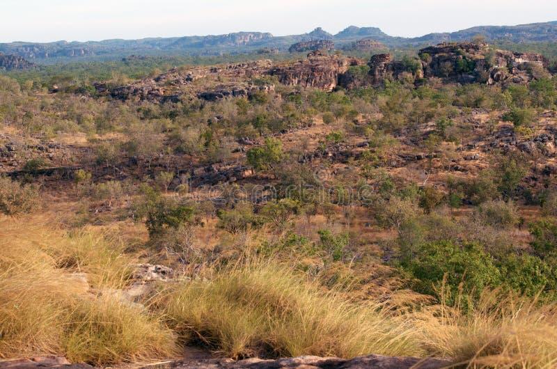 Ubirr, Kakadu National Park. Rocky landscape at Ubirr, in the East Alligator region of Kakadu National Park in the Northern Territory of Australia, famous stock image