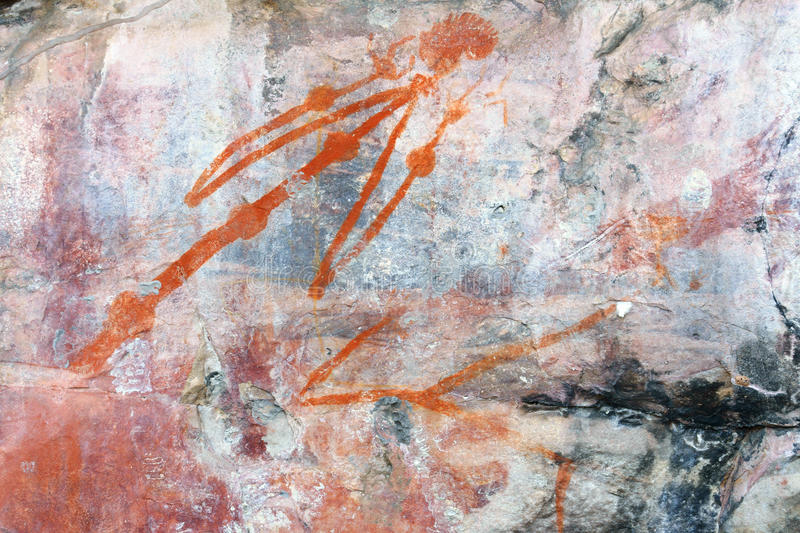 Ubirr man rock art stock image