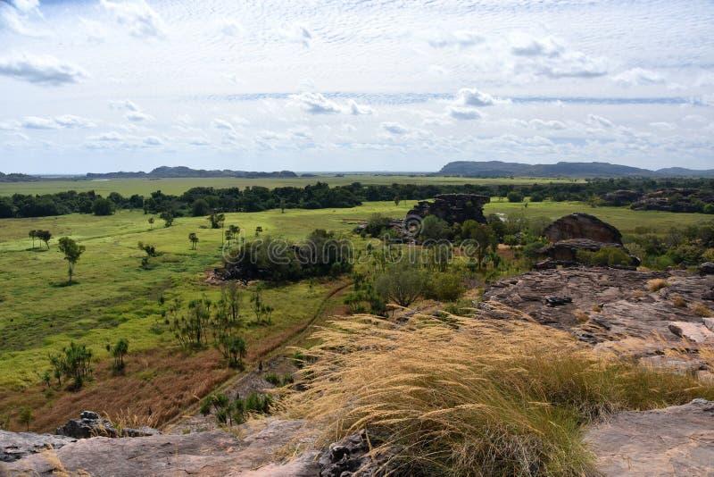 ubirr nordique national de territoire de site de stationnement de surveillance de kakadu de l'australie d'art photos libres de droits