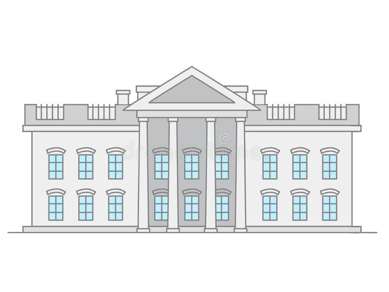 Ubited påstår högsta domstolenbyggnad royaltyfri illustrationer