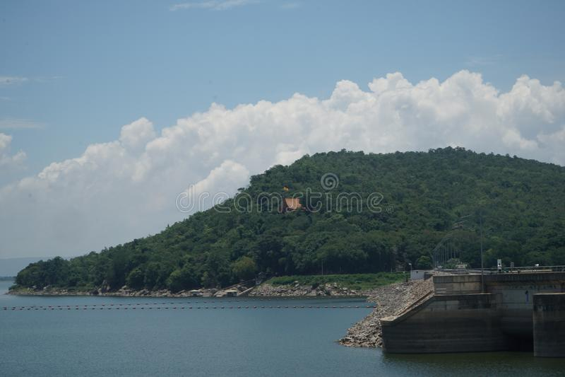 Ubonrat Dam, Khonkaen, Thailand. Ubonrat dam in sunshine day, beautiful scenery of Khonkaen, Thailand& x27;s stock images