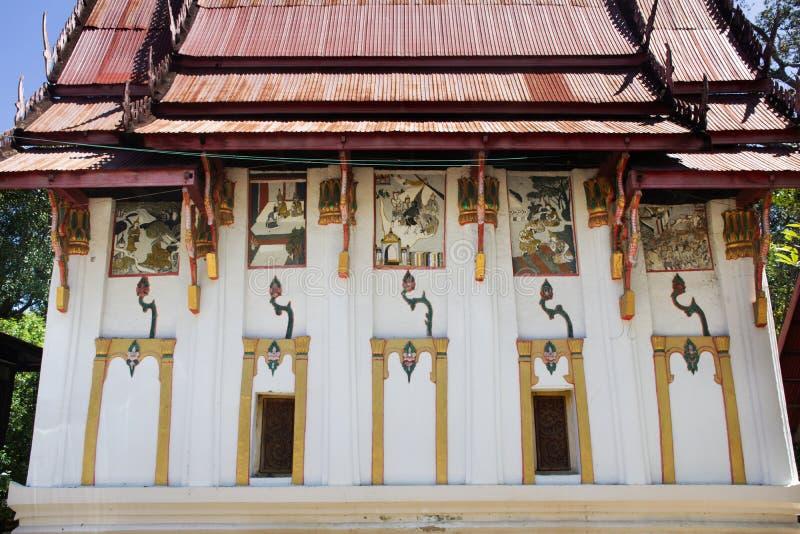 Ubosot Wat Phra которое Kong Khao Noi в Yasothon, Таиланде стоковое фото