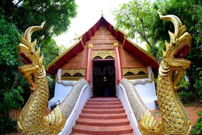Ubosoth at Wat Phra Kaew. Chiang Rai Temple in Northern Thailand stock image