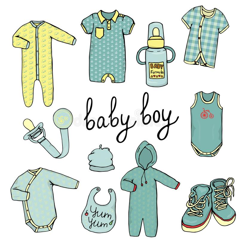 Ubrania dla dzieci ilustracji