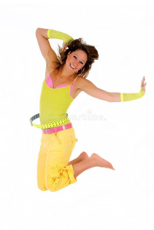 ubraniowa skoku lata kobieta zdjęcie stock