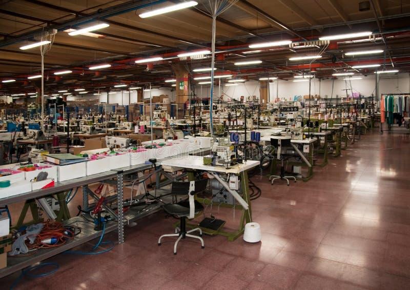 ubraniowy fabryczny włoch zdjęcia stock