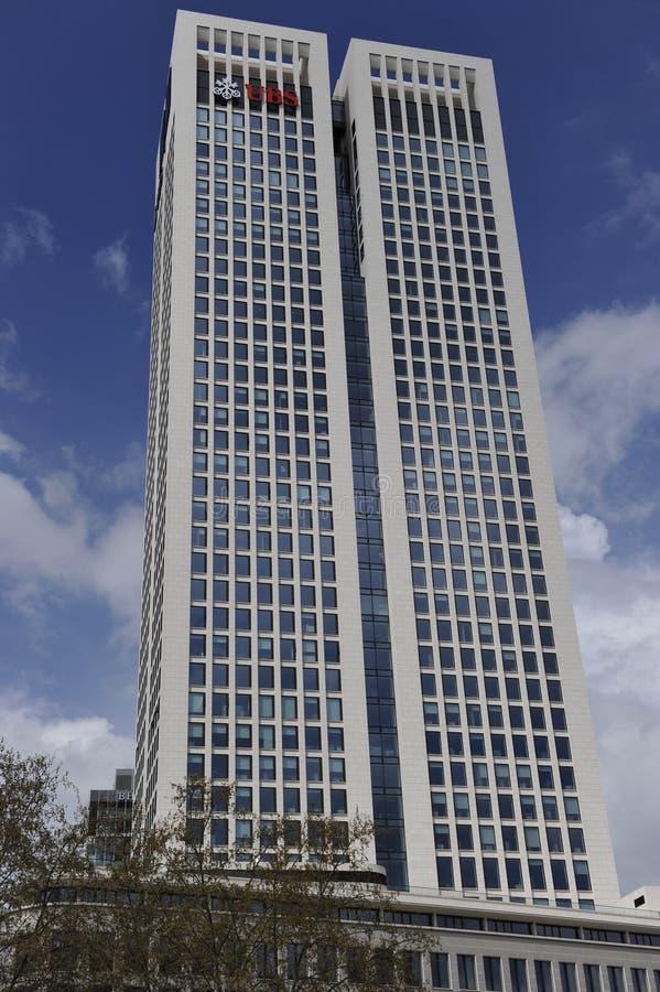 ubs небоскреба frankfurt Германии главные стоковое фото