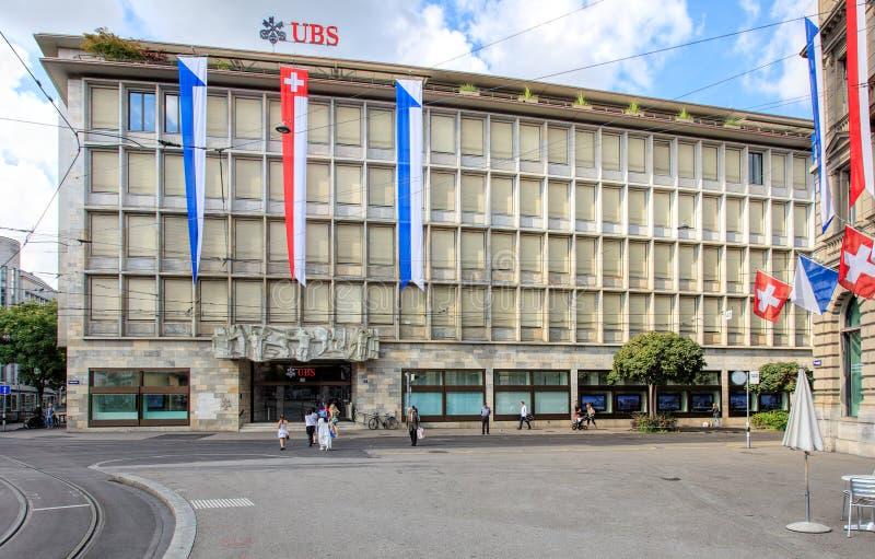 UBS-Gebäude auf Talacker-Straße in Zürich, die Schweiz stockbilder