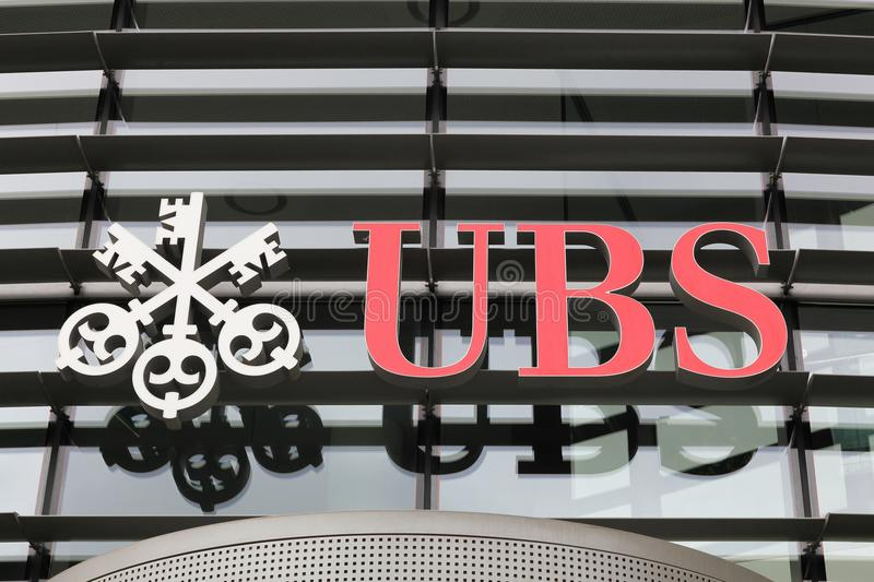Ubs Sign On A Wall Editorial Stock Image Image Of Swiss 105087824