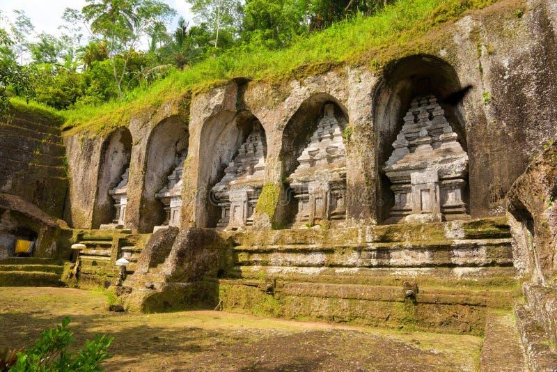 ubud Индонесии gunung gawi bali стоковые изображения rf