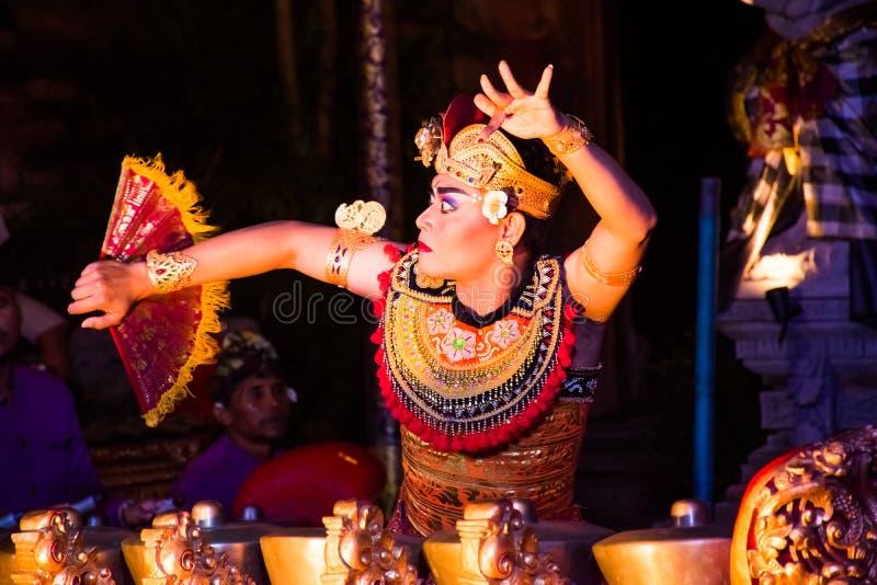 UBUD, BALI, INDONESIA - APRIL, 19: Legong traditional Balinese d stock photos