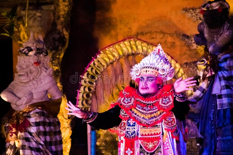 UBUD, BALI, INDONESIA - APRIL, 19: Legong traditional Balinese d royalty free stock images