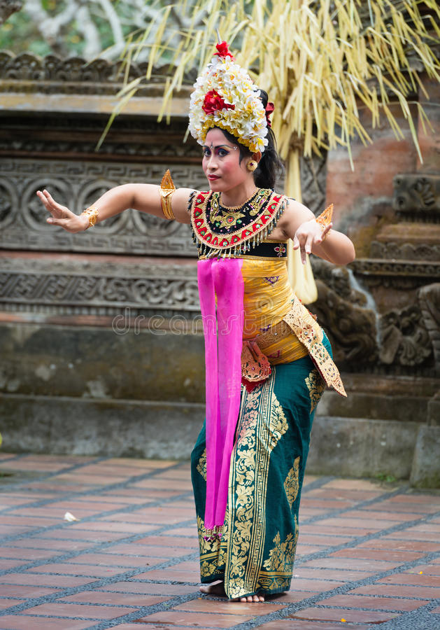 Traditional classical Legong dance on Bali stock images