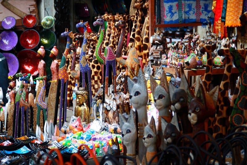 Ubud traditionelle Kunst-Markt stockbilder