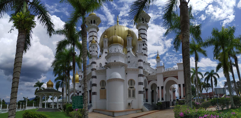 Ubudiah-Moschee in Kuala Kangsar, Malaysia stockfotos