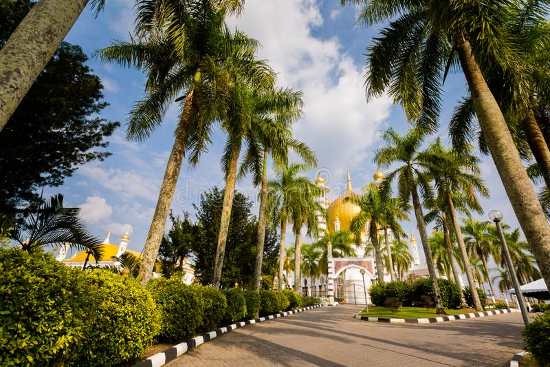 Ubudiah moské i Kuala Kangsar arkivbilder