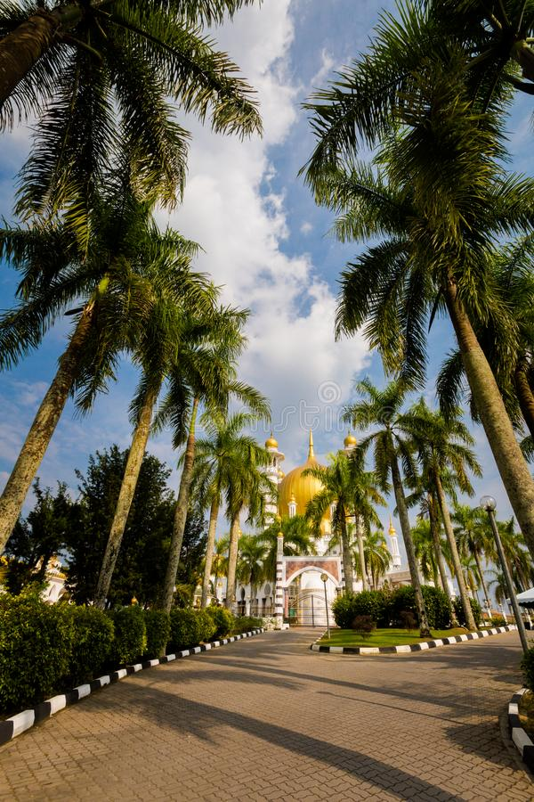 Ubudiah moské i Kuala Kangsar royaltyfri foto