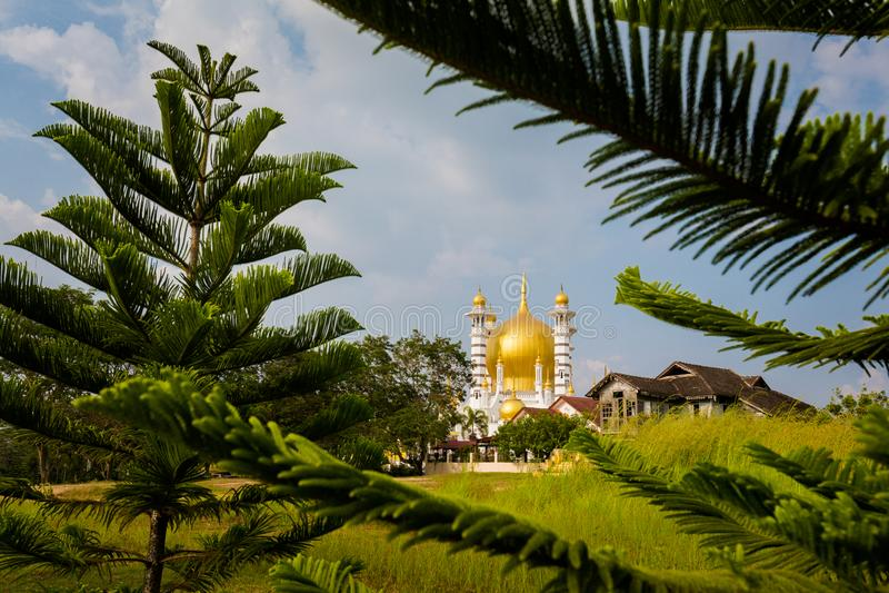 Ubudiah moské i Kuala Kangsar royaltyfri bild