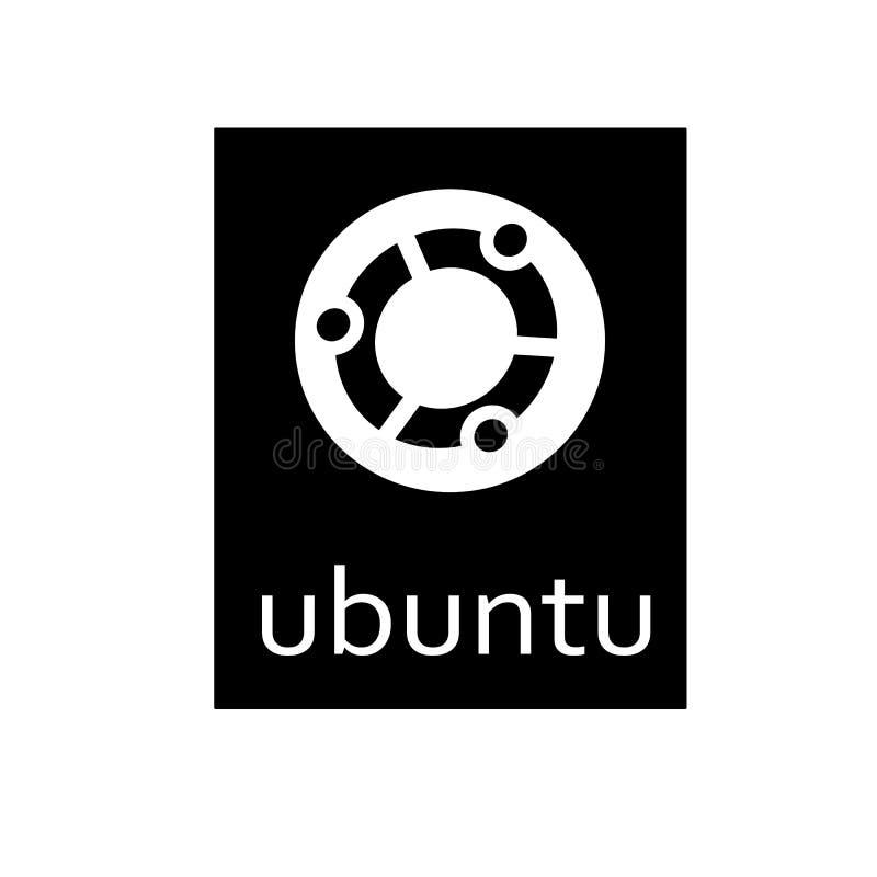 Ubuntu-Betriebssystemlogo auf weißem Hintergrund stock abbildung