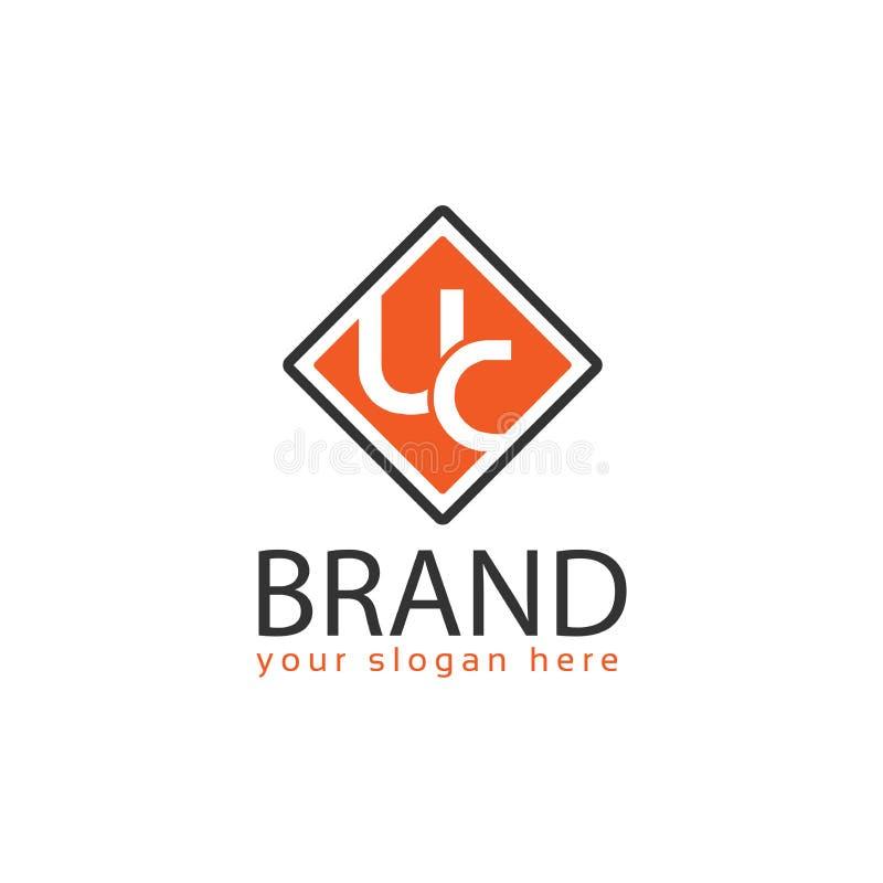 UC διάνυσμα λογότυπων Επίπεδο σχέδιο λογότυπων ελεύθερη απεικόνιση δικαιώματος