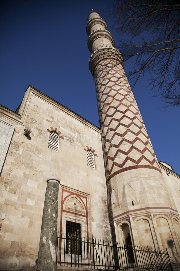 Uc Serefeli清真寺在爱迪尔内,土耳其 免版税库存图片