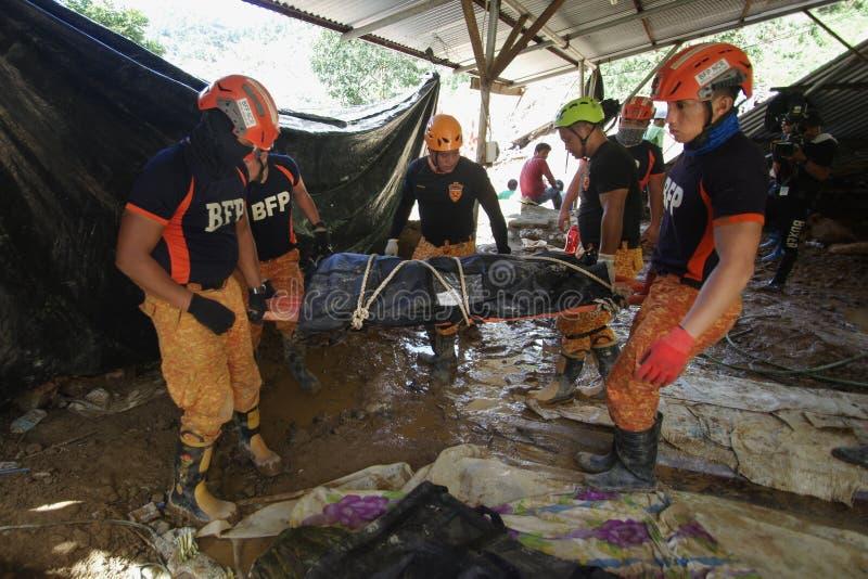 Ucab Itogon Benguet山崩悲剧台风Ompong Mangkhut菲律宾 库存照片