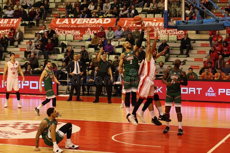 UCAM Murcia C.B. - Banvit Basketball royalty free stock images