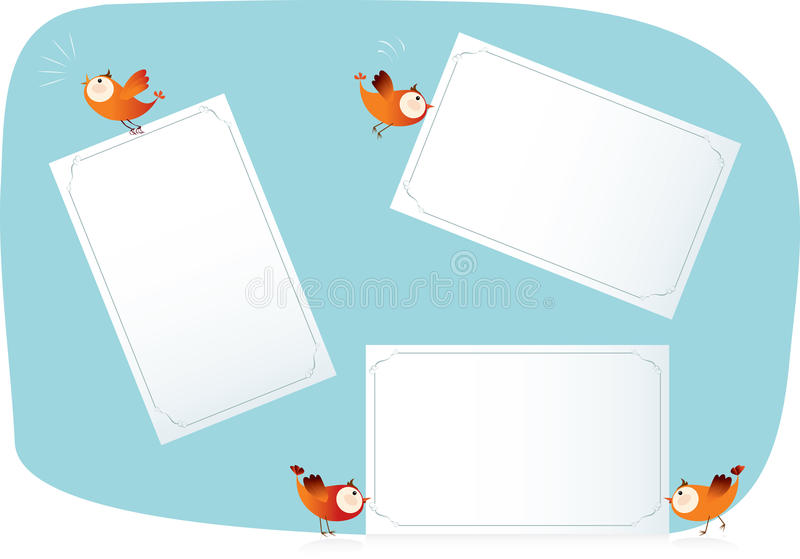 Uccelli che tengono le liste di carta royalty illustrazione gratis