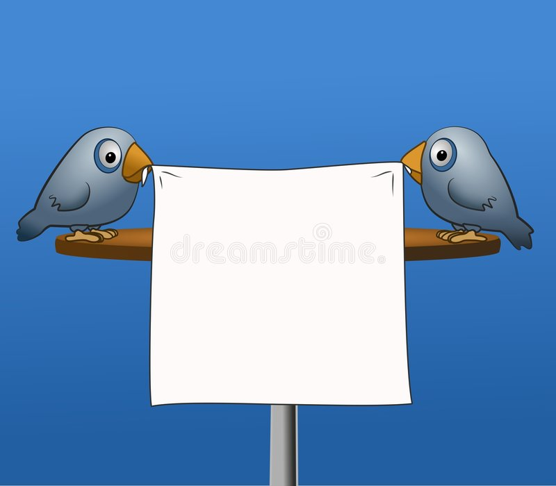 Uccelli con il manifesto royalty illustrazione gratis