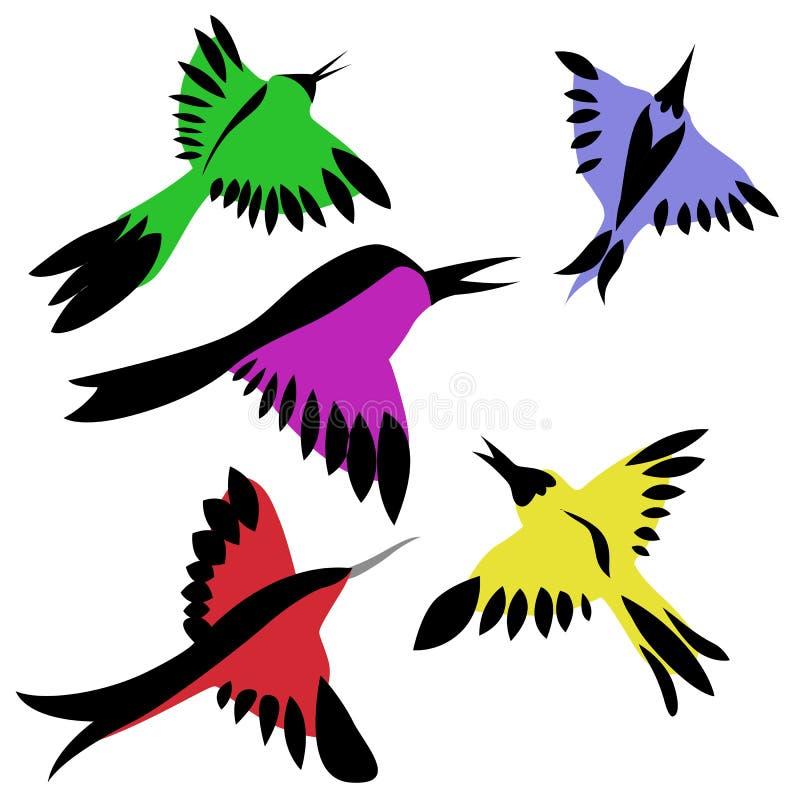 Uccelli decorativi illustrazione vettoriale