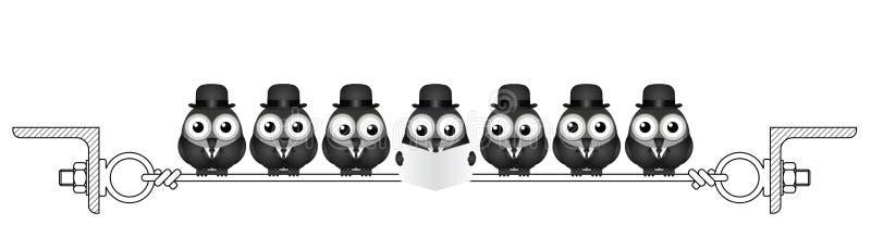 Uccelli degli uomini d'affari illustrazione vettoriale
