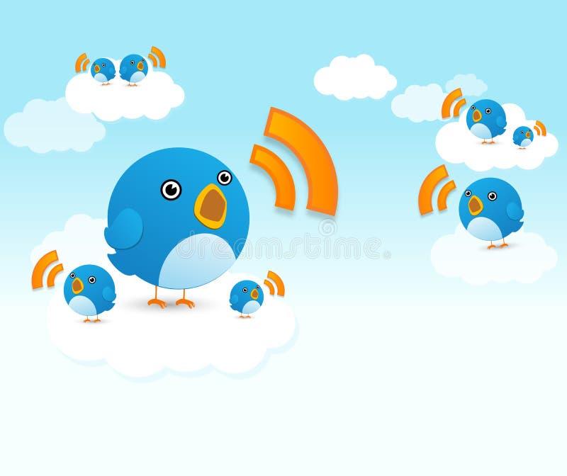 Uccelli del Twitter illustrazione di stock