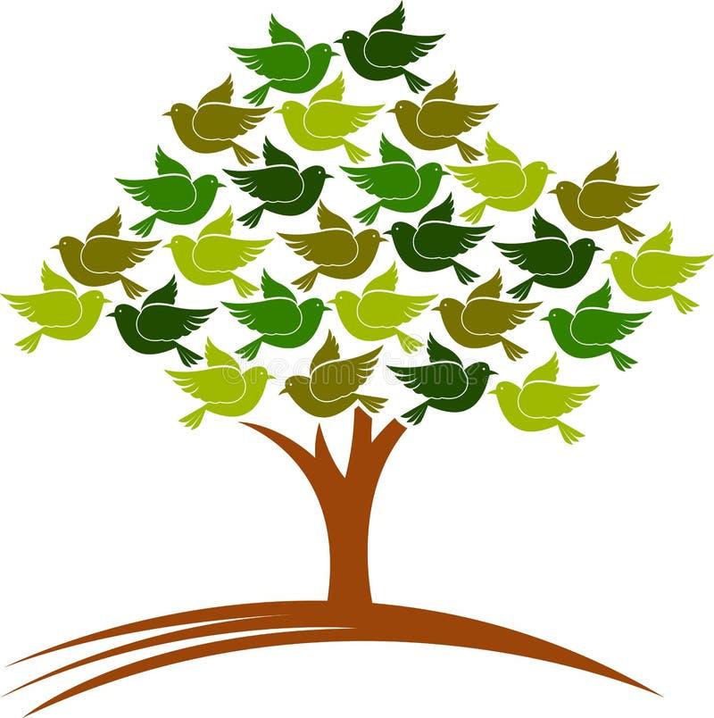 Uccelli dell'albero royalty illustrazione gratis