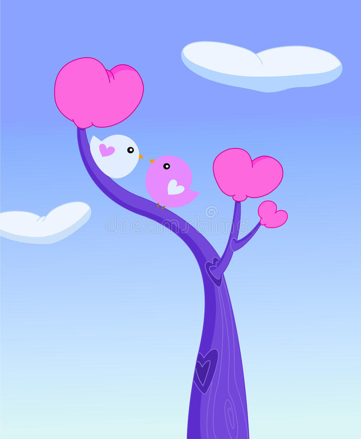 Uccelli di amore illustrazione di stock