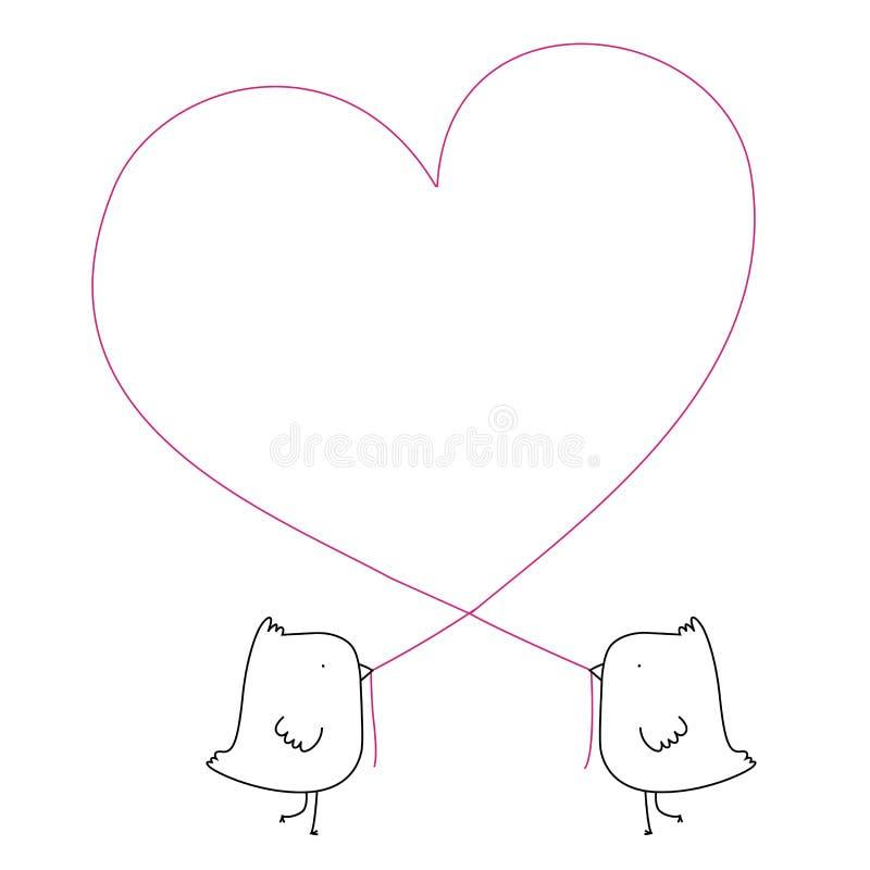 Uccelli di amore royalty illustrazione gratis