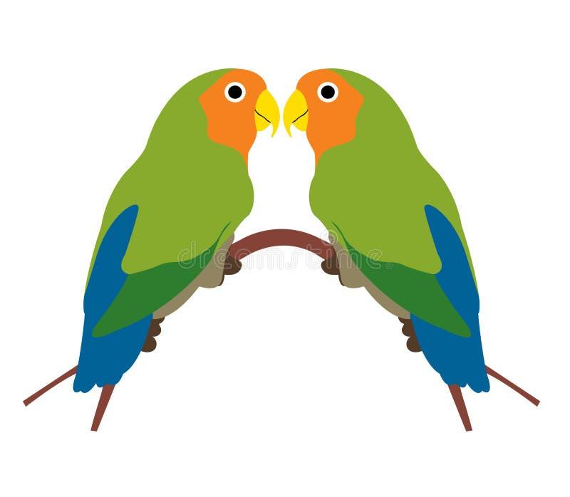 Uccelli di amore illustrazione vettoriale