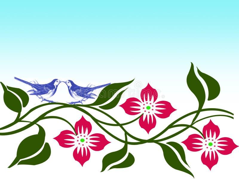 Download Uccelli di amore illustrazione di stock. Illustrazione di pianta - 7305531