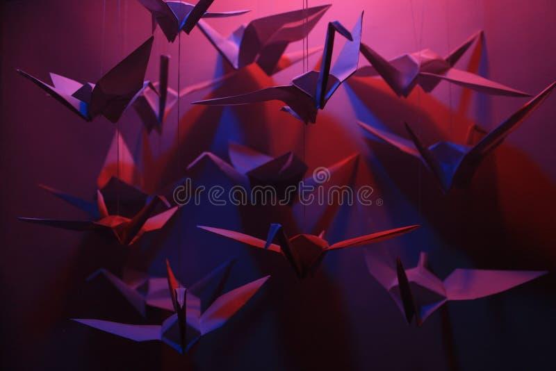 Uccelli di Origami fotografia stock libera da diritti