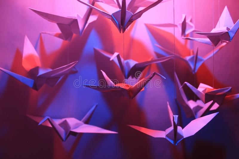 Uccelli di Origami fotografia stock