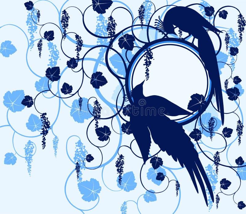 Uccelli di serie. Jay illustrazione di stock