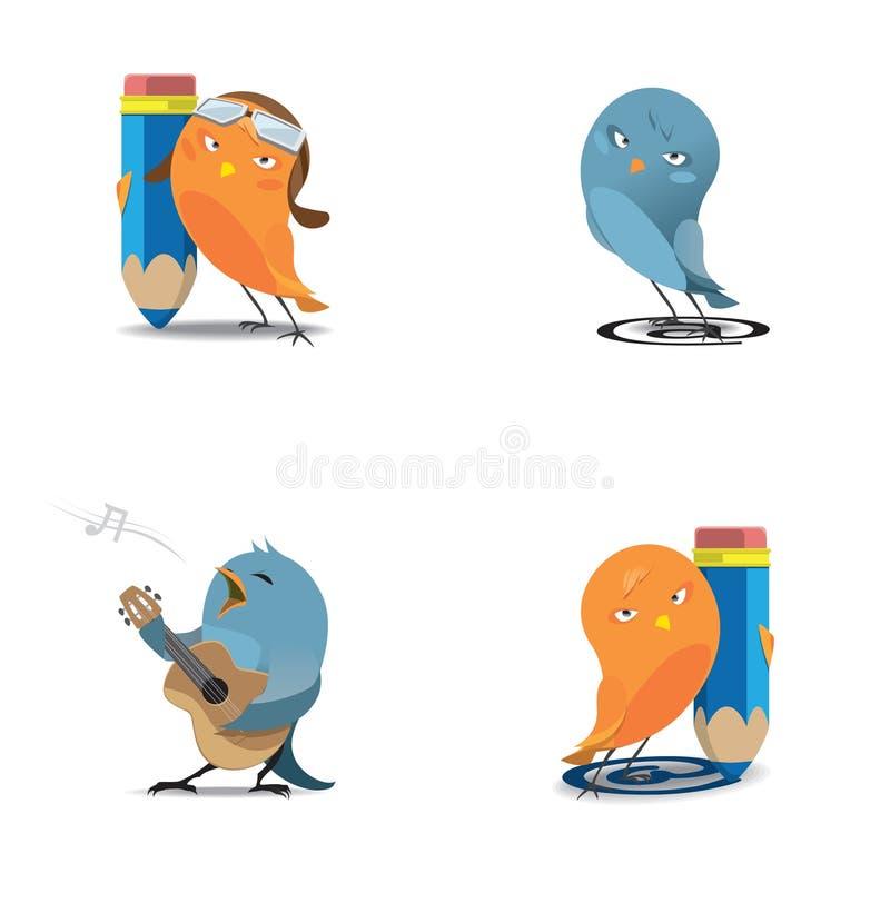 Uccelli di Web royalty illustrazione gratis